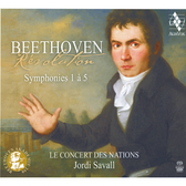 【停看聽音響唱片】【CD】貝多芬:交響曲(第1-5號) 沙瓦爾 指揮 國家古樂合奏團