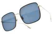 Dior太陽眼鏡 BY DIOR3F J5GA9 (黑金-藍鏡片) 熱門經典方框 精品墨鏡 #金橘眼鏡