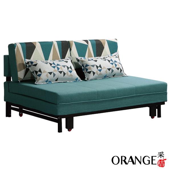 【采桔家居】曼格姆  可拆洗亞麻布沙發/沙發床(拉合式機能設計)