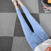 彈力韓版九分牛仔褲女季2017新款學生小腳緊身顯瘦高腰鉛筆褲