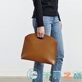 韓國氣質通勤包文件包女包手提包時尚簡約手拿包【千尋之旅】