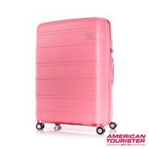 AT美國旅行者 30吋Litevlo極輕量耐衝擊飛機輪PP可擴充硬殼行李箱(蜜桃粉)