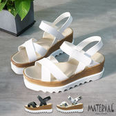 厚底鞋 交叉簡約厚底涼鞋 MA女鞋 T5273