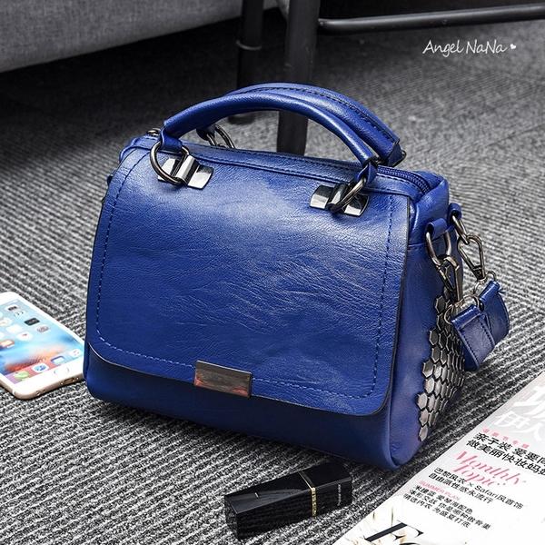手提包。龐克風鉚釘時尚斜背包小包包女包 (SBA0358) AngelNaNa