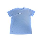 KANGOL 童裝 短袖T恤 淺藍色 雙色字母LOGO 6126500581 noG45
