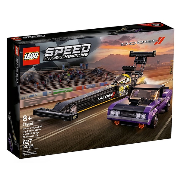 LEGO 樂高 急速賽車系列-Mopar Dodge//SRT Top Fuel Dragster and 1970 Dodge_LG76904