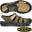 KEEN 1018941橄綠/沙石 Newport Hydro男戶外護趾涼鞋 水陸兩用溯溪鞋 東山戶外