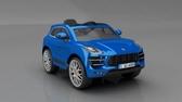 【送膳魔師雙耳保溫杯】保時捷Porsche Macan turbo雙驅兒童電動車 藍色【六甲媽咪】