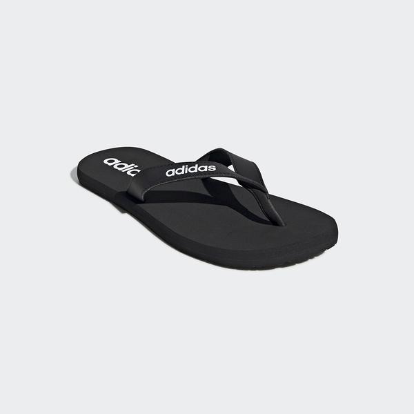 Adidas Eezay Flip-Flops男女款黑色輕便夾腳拖鞋-NO.EG2042