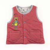 【愛的世界】純棉機器人鋪棉兩面穿背心-紅/6個月-台灣製- ★秋冬外套