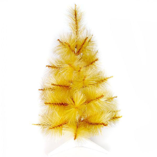 【摩達客】台灣製2尺/2呎(60cm)特級金色松針葉聖誕樹裸樹 (不含飾品)(不含燈)