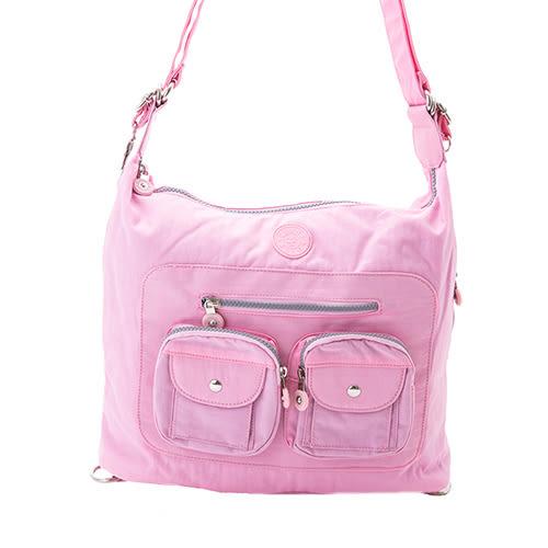COUNT DUCK 美系悠活輕量手提側背多夾層3way包-CD-005粉色