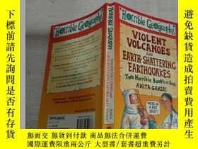 二手書博民逛書店VIOLENT罕見VOLCANOES AND EARTH-SHATTERINC EARTHQUAKES(猛烈的火山