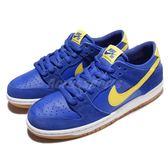【六折特賣】Nike 滑板鞋 SB Zoon Dunk Low Pro 藍 黃 膠底 運動鞋 男鞋 【PUMP306】 854866-471