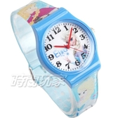 Disney 迪士尼 時尚卡通手錶 冰雪奇緣 艾莎公主 安娜公主 雪寶 兒童手錶 數字 女錶 藍 D冰雪大B5