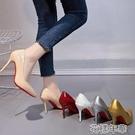偽娘鞋35-45碼 男士超大碼高跟鞋44反竄偽娘鞋43性感細跟單鞋42大腳女 快速出貨
