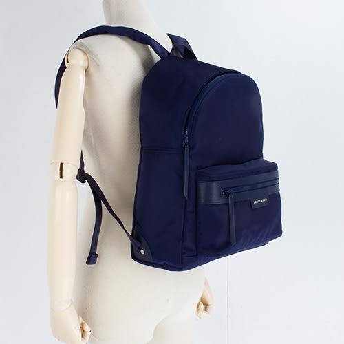 LONGCHAMP經典Le Pliage Neo系列厚尼龍後背包(海軍藍)480612-556