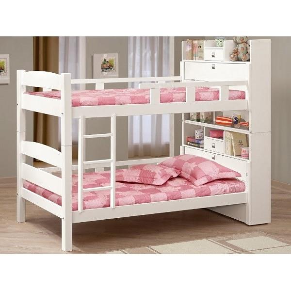 雙層床 MK-702-5 洛克3.5尺白色多功能雙層床 (不含床墊) 【大眾家居舘】