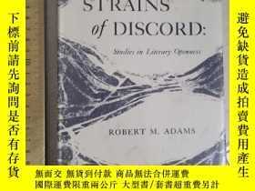 二手書博民逛書店Strains罕見of discord conflict studies in literary openness