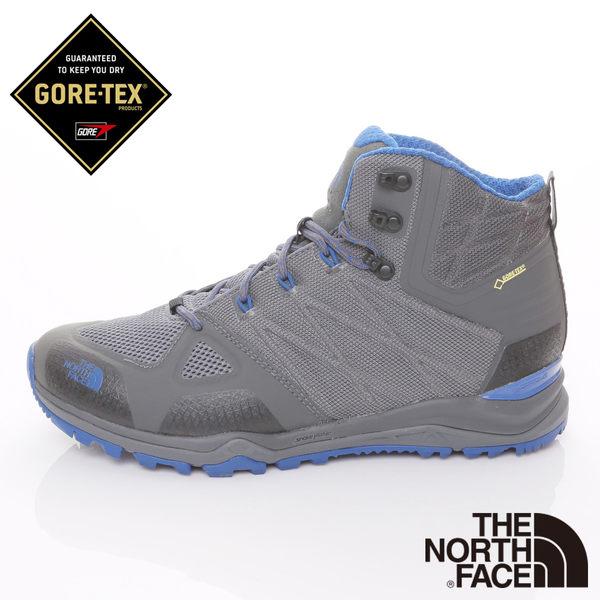 The North Face 男 GORE-TEX中筒輕量登山鞋-灰/藍 【GO WILD】