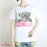 【SHOWCASE】夏日個性圓領老虎印花短袖T恤(白)