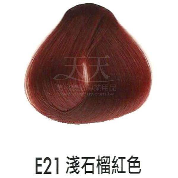 【專業推薦】耐婷 亮彩染髮劑 E21-淺石榴紅色 60g [73050]