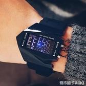 創意LED飛機錶 男士防水手錶男個性創意電子錶學生復古 青木鋪子