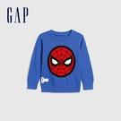 Gap男幼童 Gap x Marvel 漫威系列蜘蛛人圓領針織衫 619189-藍色