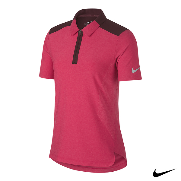 NIKE GOLF Zonal Cooling polo 女高爾夫運動短袖上衣 桃 AA8224-666