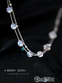 手鍊 925純銀雙層月光石手鍊女日韓超仙月光森林小眾設計手飾