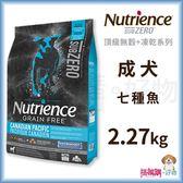 Nutrience紐崔斯『 SUBZERO無穀犬+凍乾 (七種魚)』2.27kg【搭嘴購】