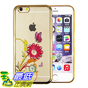 [美國直購] 手機殼 iPhone 6/6S Plus phone case ( Sun Flowers & Butterflies[Gold] )
