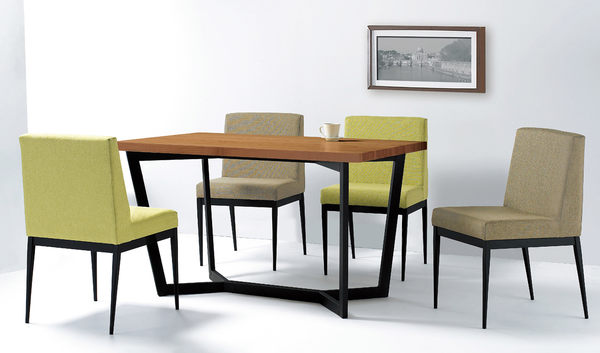 【森可家居】卡特黑腳布餐椅-綠色 7JF486-6