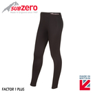 【Sub Zero 英國 女款 Factor1+ 排汗長褲《黑》】Factor 1 PLUS/內搭褲/褲襪/防曬