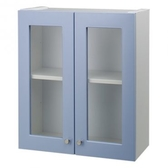 抗菌雙門防水浴櫃(藍色)