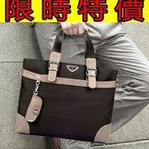 手提包-新款大容量百搭可肩背男帆布包9款59j1【巴黎精品】