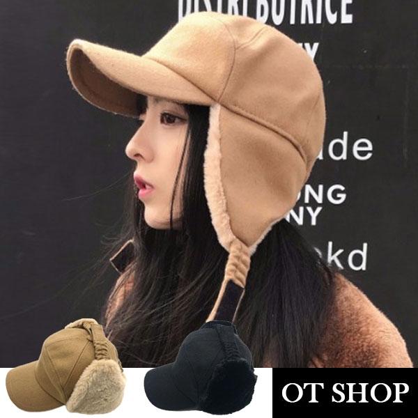 [現貨秒出] 雷鋒帽 飛行帽 針織毛呢 護耳帽 帽子 穿搭配件 保暖帽 台灣出貨 C2061