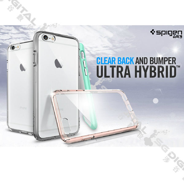 Spigen SGP Apple iPhone 6/6S Plus Ultra Hybrid 透明背蓋邊框