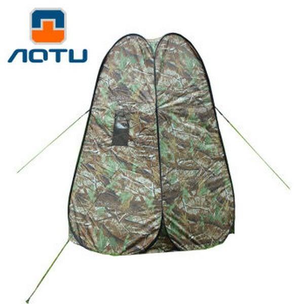 [UF72戶外露營]瑞士奧途系列 家用樹葉迷彩更衣帳 沐浴觀鳥 移動廁所 無底帳篷AT6505