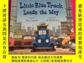 二手書博民逛書店Little罕見Blue Truck Leads the Way [Board Book]  Alice HMH奇