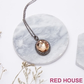 【RED HOUSE 蕾赫斯】圓形水鑽項鍊(共2色)