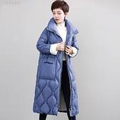 羽絨夾克-白鴨絨-立領蓬鬆加厚長款女外套3色73zc10【時尚巴黎】