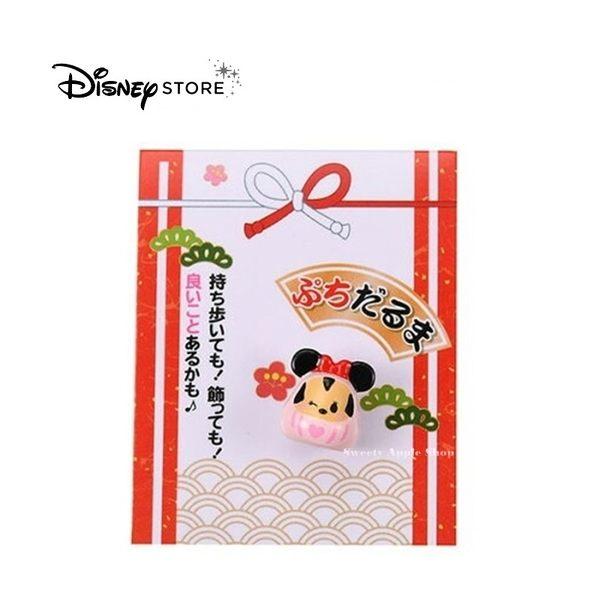 日本限定 迪士尼商店 Disney Store 新年 米妮 迷你達摩  吉祥物公仔擺飾