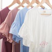 哺乳外衣 哺乳上衣短袖哺乳衣外出夏棉質喂奶衣時尚月子服上衣哺乳t恤 中秋鉅惠