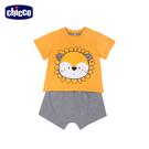 chicco-陽光動物-立體繡圖短袖套裝-獅子