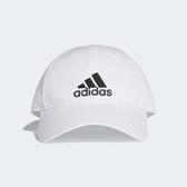 adidas 帽子 6-Panel 六分割帽 老帽 白 黑 白色 男女款 可調整 【PUMP306】 BK0794