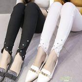 黑色打底褲女外穿薄款緊身顯瘦小腳褲子女春秋新款九分鉛筆褲高腰  快速出貨