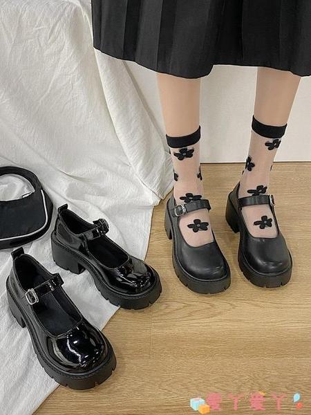 小皮鞋 英倫小皮鞋女日系厚底瑪麗珍鞋一字扣高跟單鞋洛麗塔學生jk制服鞋 愛丫 免運