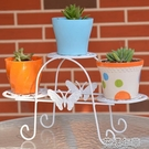 花架歐式多層鐵藝花架落地式花盆架室內客廳陽台多肉植物置物花架 花樣年華