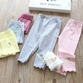 女童全棉七分褲 兒童寶寶字母檸檬印花夏款打底褲 桃園百貨
